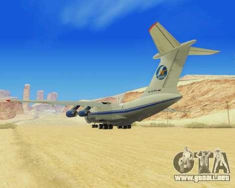 Il-76T AVAST para la visión correcta GTA San Andreas