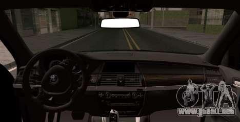 BMW X5M 2013 para GTA San Andreas vista posterior izquierda