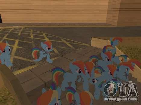 Rainbow Dash para GTA San Andreas sucesivamente de pantalla