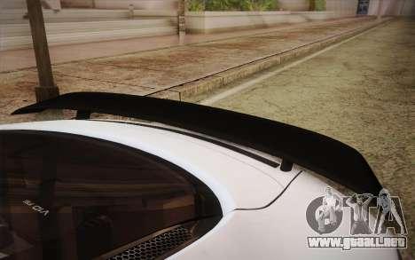 Audi R8 GT 2012 para GTA San Andreas vista hacia atrás