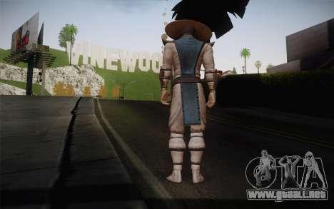 Raiden from Mortal Kombat 9 para GTA San Andreas segunda pantalla