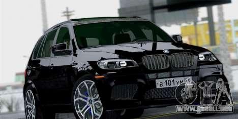 BMW X5M 2013 para la visión correcta GTA San Andreas