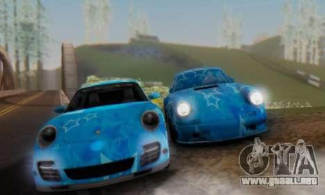 Porsche 911 Turbo Blue Star para la visión correcta GTA San Andreas