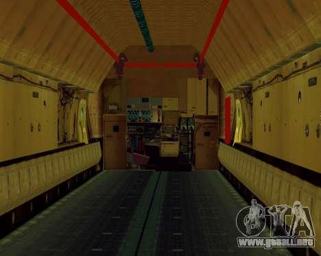 Il-76T AVAST para GTA San Andreas vista hacia atrás
