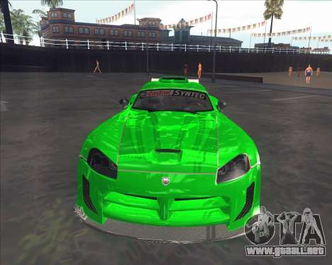 Dodge Viper SRT de NFS MW para GTA San Andreas left