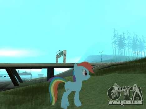 Rainbow Dash para GTA San Andreas segunda pantalla