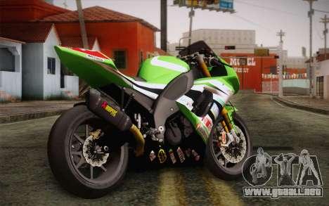Kawasaki ZX-10R Ninja para GTA San Andreas left