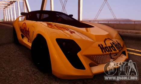 Bertone Mantide 2010 Hard Rock Cafe para vista lateral GTA San Andreas