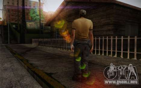 Ellis from Left 4 Dead 2 para GTA San Andreas segunda pantalla