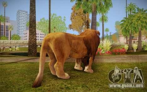 León para GTA San Andreas segunda pantalla