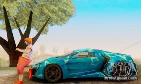 W-Motors Lykan Hypersport 2013 Blue Star para las ruedas de GTA San Andreas