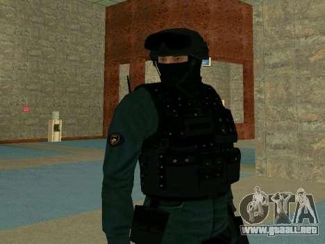La piel SOBR para GTA San Andreas tercera pantalla