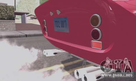 Ferrari 250 GTO 1962 para vista inferior GTA San Andreas