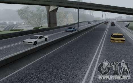 HD Roads 2014 para GTA San Andreas quinta pantalla