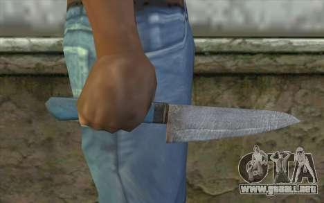 El viejo cuchillo de cocina para GTA San Andreas tercera pantalla