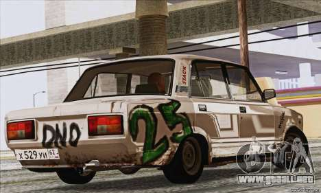VAZ 2107 GVR para GTA San Andreas left