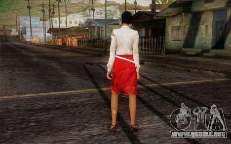 Xian Mei from Dead Island para GTA San Andreas segunda pantalla