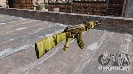 El AK-47 Woodland para GTA 4 segundos de pantalla
