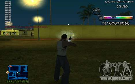 C-HUD by Miks para GTA San Andreas segunda pantalla