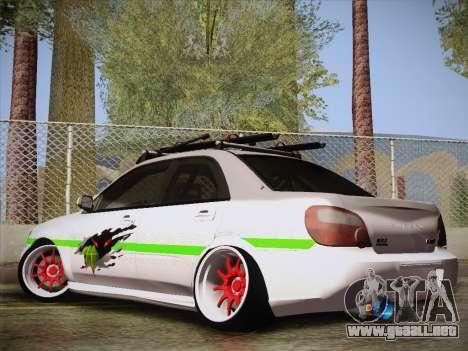 Subaru Impreza Hellaflush para GTA San Andreas left