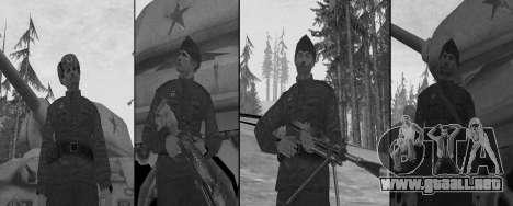 USSR Soldier Pack para GTA San Andreas