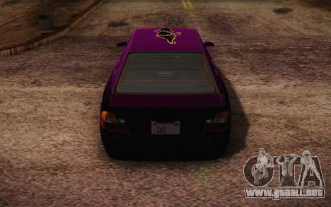 El sultán из GTA 5 para las ruedas de GTA San Andreas