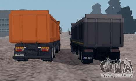 Scania P420 para visión interna GTA San Andreas