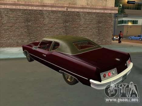 Yardie Lobo from GTA 3 para GTA San Andreas vista hacia atrás