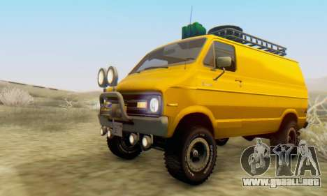 Dodge Tradesman Van 1976 para visión interna GTA San Andreas