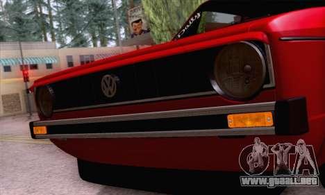 Volkswagen Golf Mk I 1978 para la vista superior GTA San Andreas