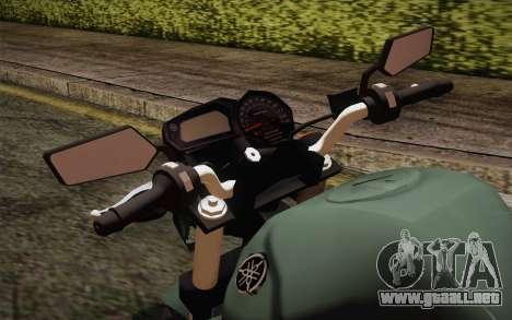 Yamaha FZ6 para la visión correcta GTA San Andreas