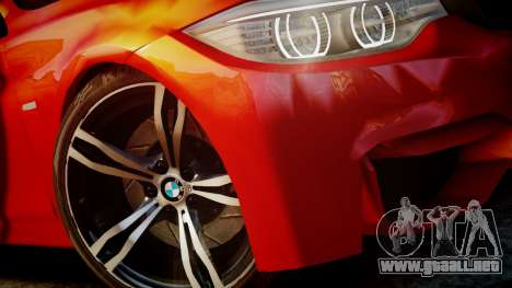 BMW M4 Coupe 2014 v1.0 para GTA 4 vista interior
