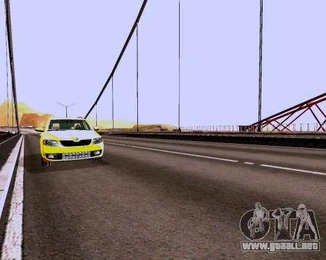 Skoda Octavia A7 Combi para visión interna GTA San Andreas