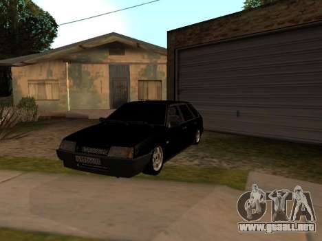 VAZ 2109 Gangster nueve V 1.0 para vista lateral GTA San Andreas