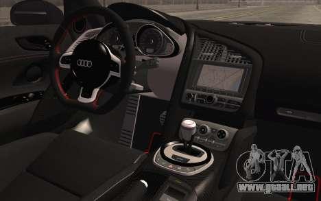 Audi R8 GT 2012 para la visión correcta GTA San Andreas