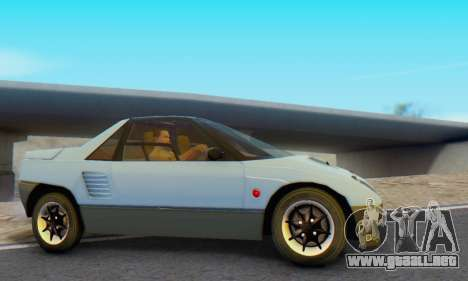 Mazda Autozam AZ-1 para GTA San Andreas vista posterior izquierda