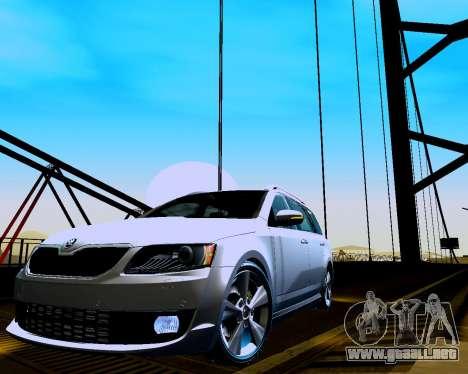 Skoda Octavia A7 Combi para GTA San Andreas left