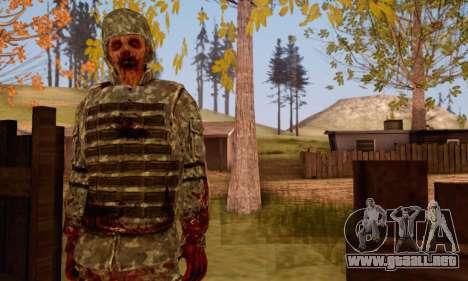 Zombie Soldier para GTA San Andreas tercera pantalla