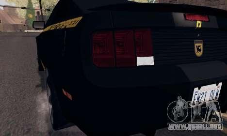 Ford Mustang Shelby Terlingua 2008 NFS Edition para las ruedas de GTA San Andreas