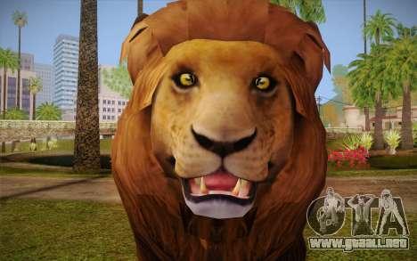 León para GTA San Andreas tercera pantalla