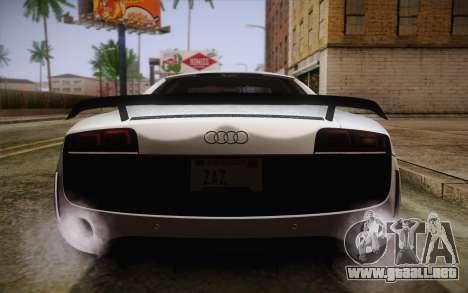 Audi R8 GT 2012 para vista inferior GTA San Andreas