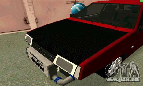 VAZ 2108 Turbo para GTA San Andreas vista posterior izquierda