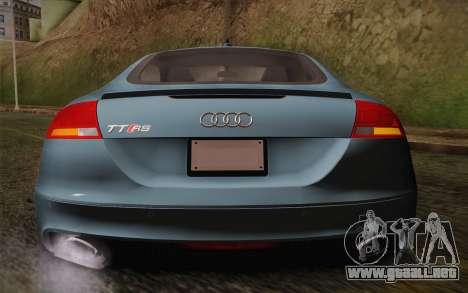 Audi TT RS 2011 para visión interna GTA San Andreas