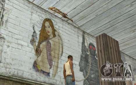 God of War Blade para GTA San Andreas tercera pantalla