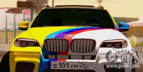 BMW X5M 2013 para visión interna GTA San Andreas