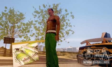 Un signo de la publicidad de la cerveza para GTA San Andreas segunda pantalla