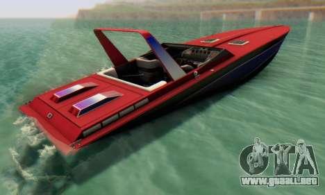 Wellcraft 38 Scarab KV para GTA San Andreas left