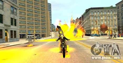 Ghost Rider para GTA 4 adelante de pantalla