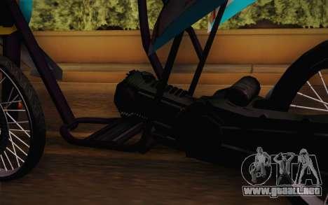 Fino Drag para GTA San Andreas vista posterior izquierda