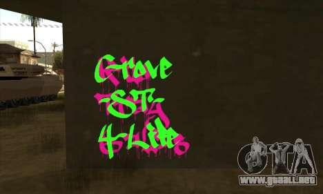 Nuevo graffiti para GTA San Andreas segunda pantalla